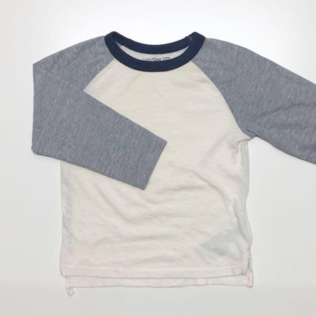 Baby Gap toddler 童裝 男童女童 raglan sleeve長袖上衣T恤