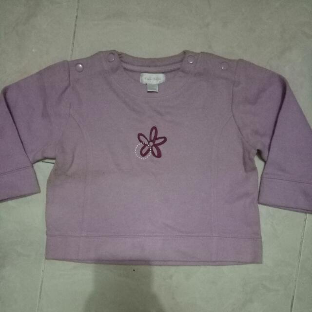 Baju Hangat Ungu Kiabi Bebe 24m Anak Bayi