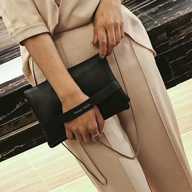 [Beststyler] korean style 2017 retro PU clutch sling handbag / student casual sling bag small bag