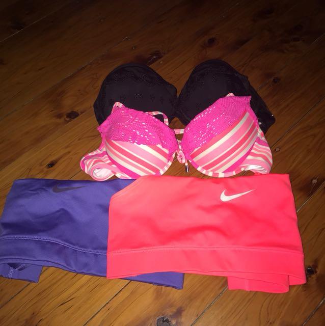 Bikinis and Nike Sports Bras