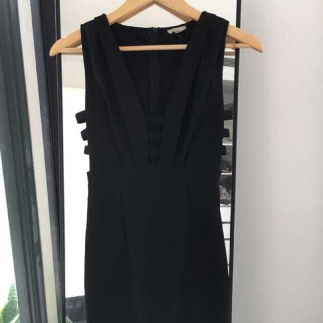 Black cutout dress - Size S
