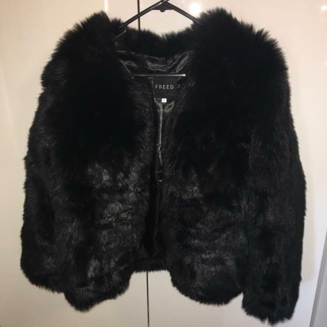 Black Freed The Label Fur Jacket