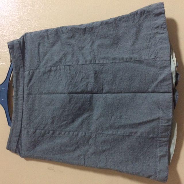 Blue-gray skirt