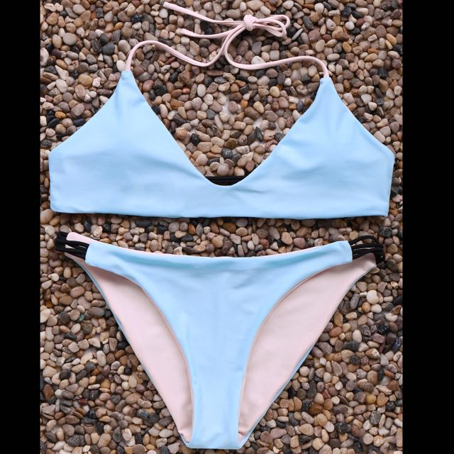 Brand New Pink and Blue Reversible Bikini