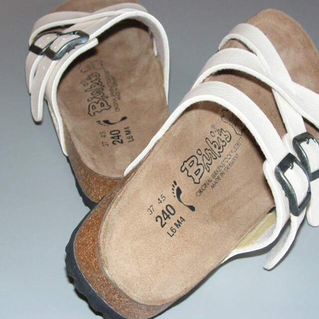 Burkies cream color sandals
