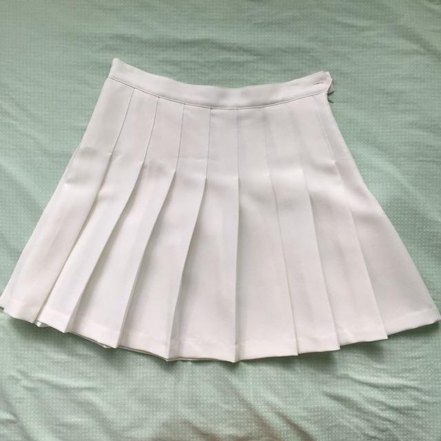 [Choies] white tennis skirt