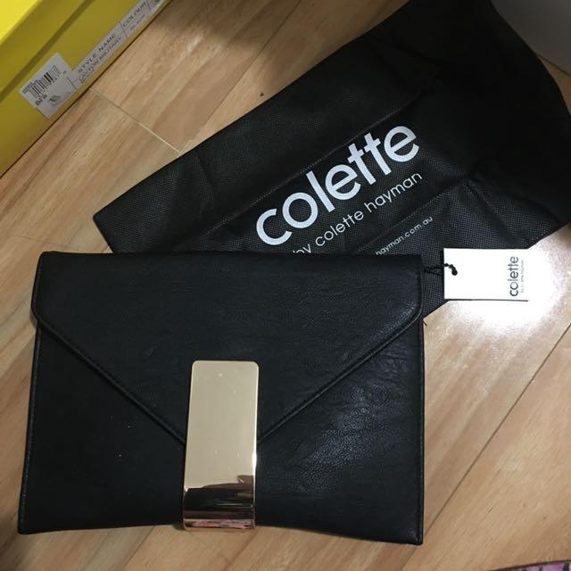 Colette envelope clutch