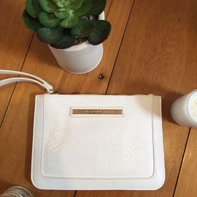 Colette white clutch/purse
