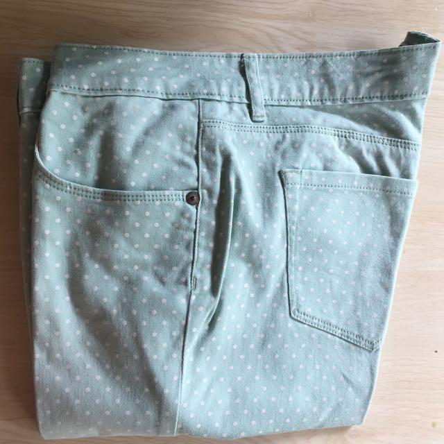 COLORBOX polka dot jeans