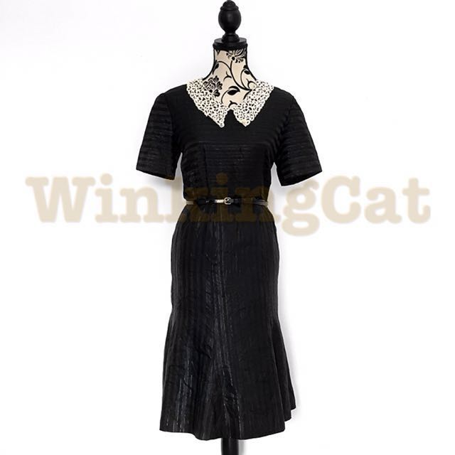 (D154)Vintage Stripes Dress