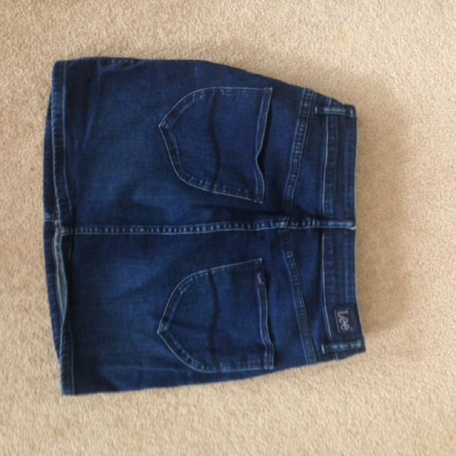 Denim skirt by Lee size 12