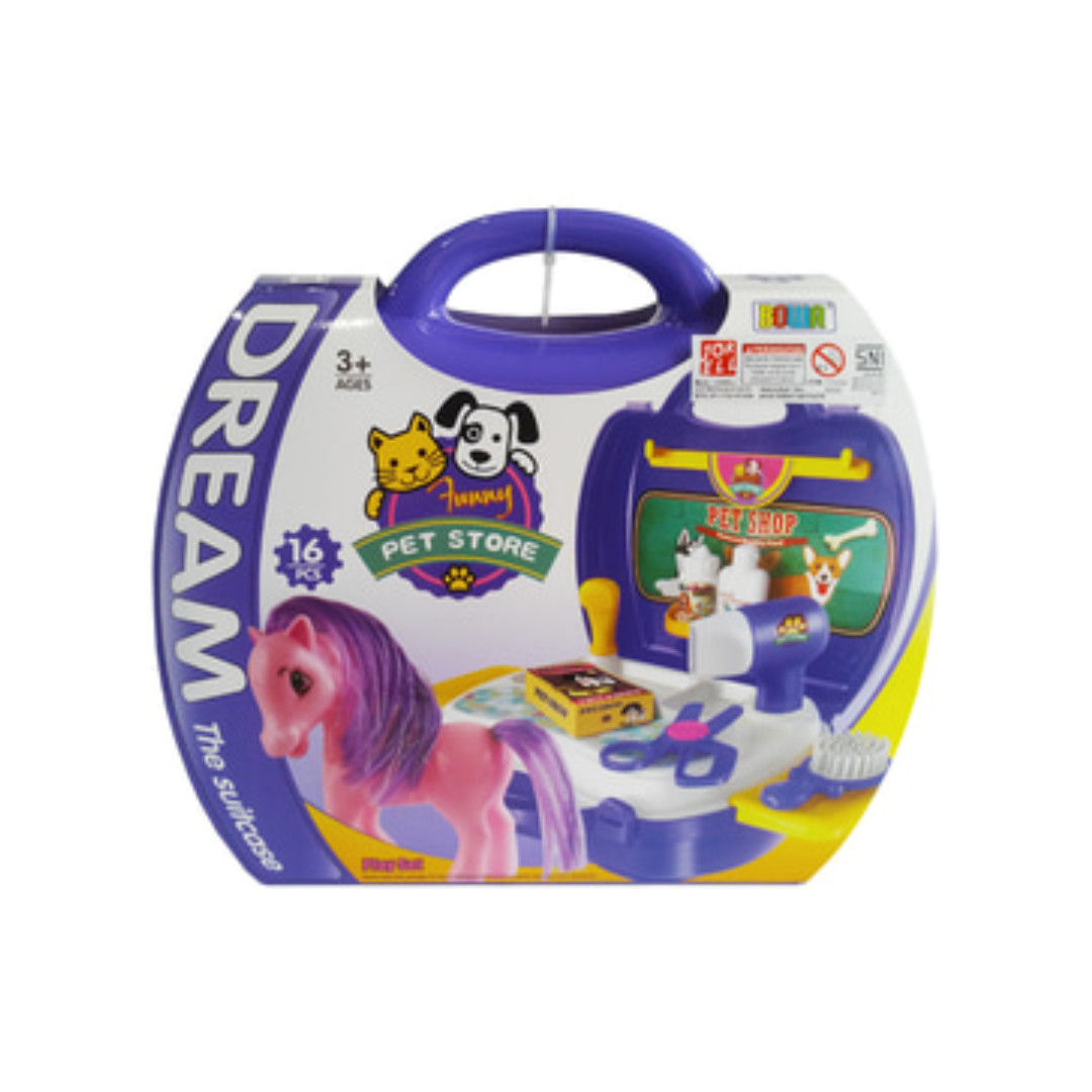 Dream Pet Pony Suitcase Children's Kid's Pretend Play Toy