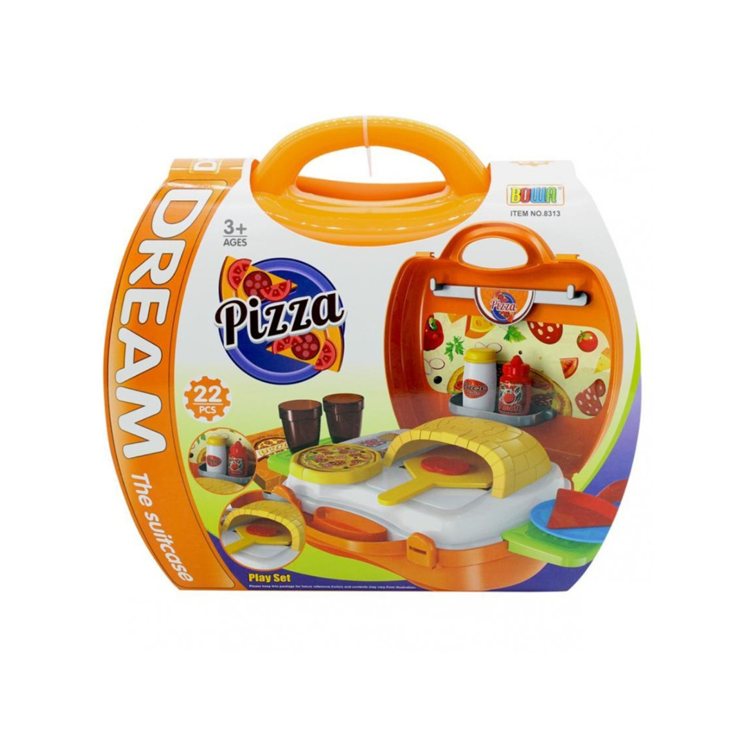 Dream Pizza Parlor Suitcase Children's Kid's Pretend Play Toy