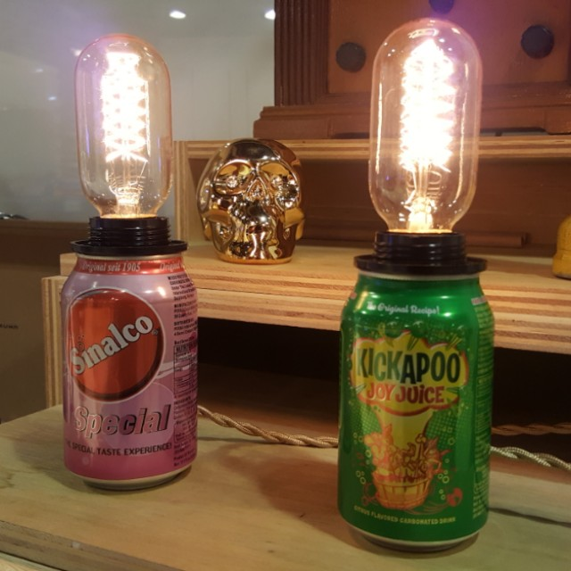 Drink Can Touch Lamp Workshop