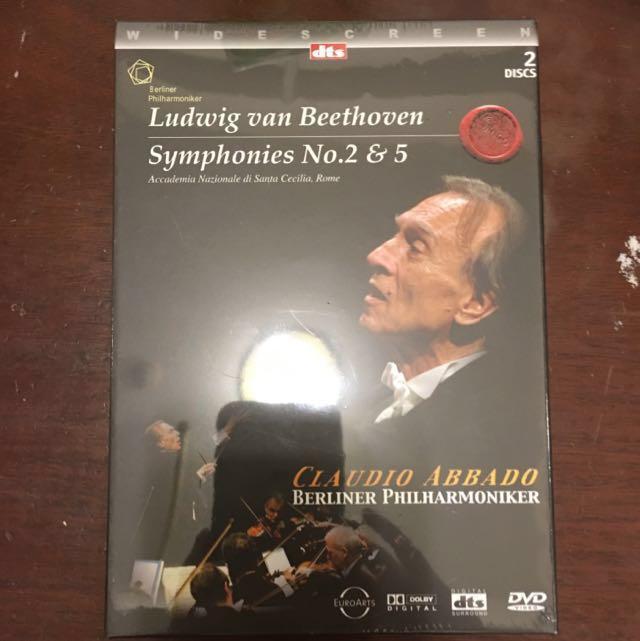 #雙十一大出淸。全新貝多芬:第二&第五號交響曲-阿巴多指揮DVD