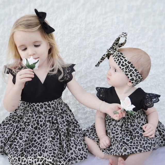 Elegant Set Onesie+Headband or Dress+Black Pin