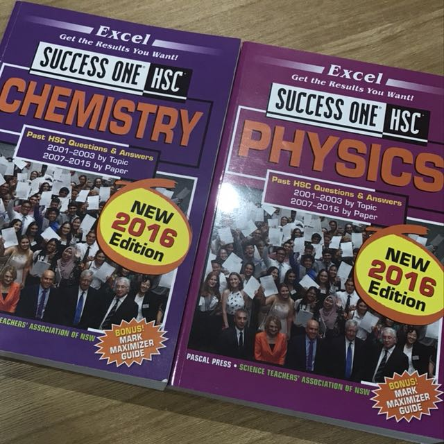 Excel Success One HSC Chemistry and Physics textbooks