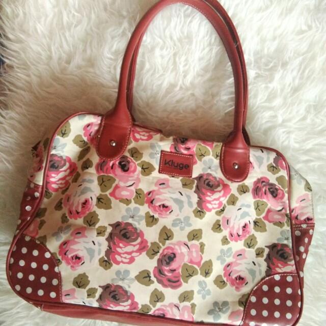 Floral kluge bag by shopie martin