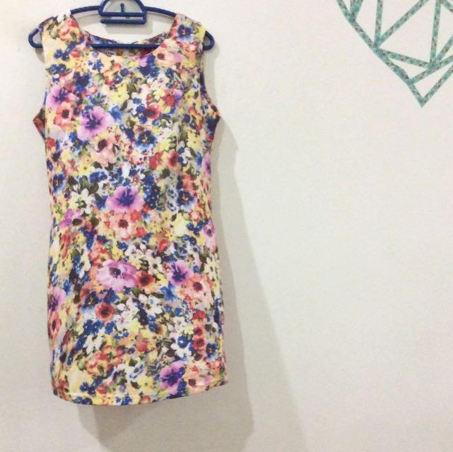 Floral Straight Cut Dress