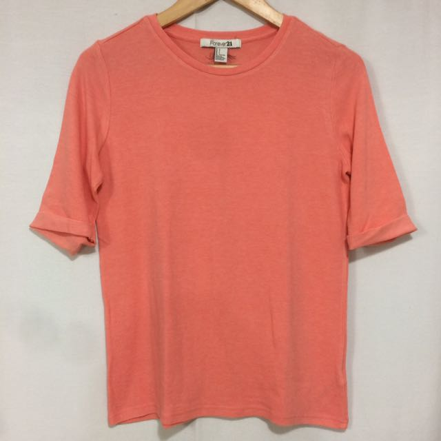 Forever 21 Peachy Orange Shirt