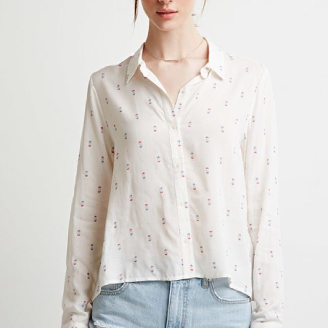 Forever 21 Women's Popsicle Printed Shirt - size Small