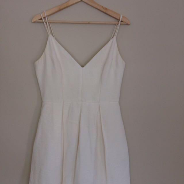 Forever new white dress size 10