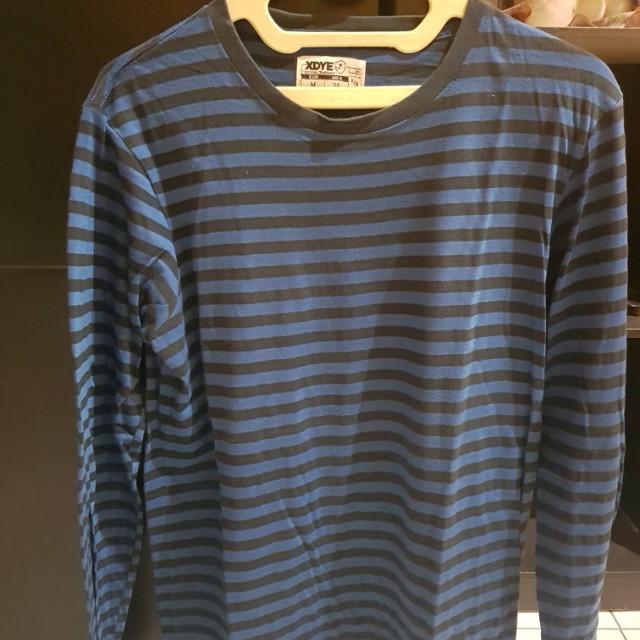 FS Pull & Bear stripes LS sz M