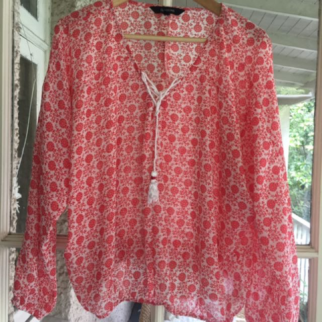 Glassons Print Blouse - Size M