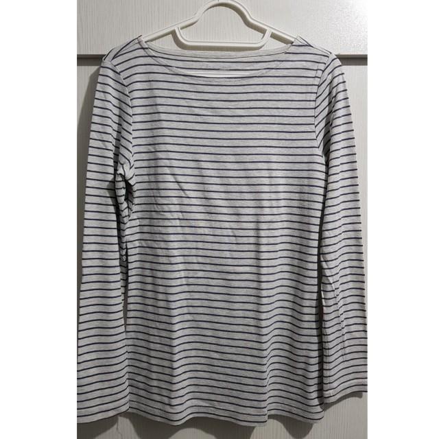 Gray stripes long sleeves