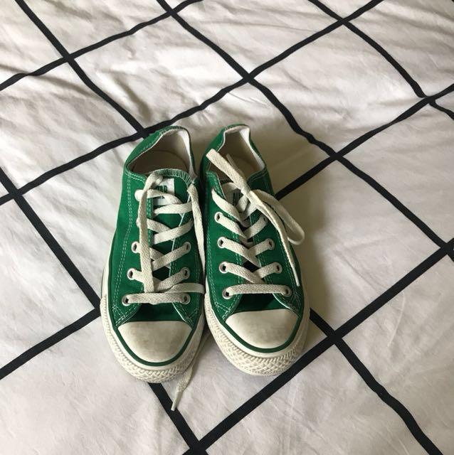 Green Chucks Barely worn.