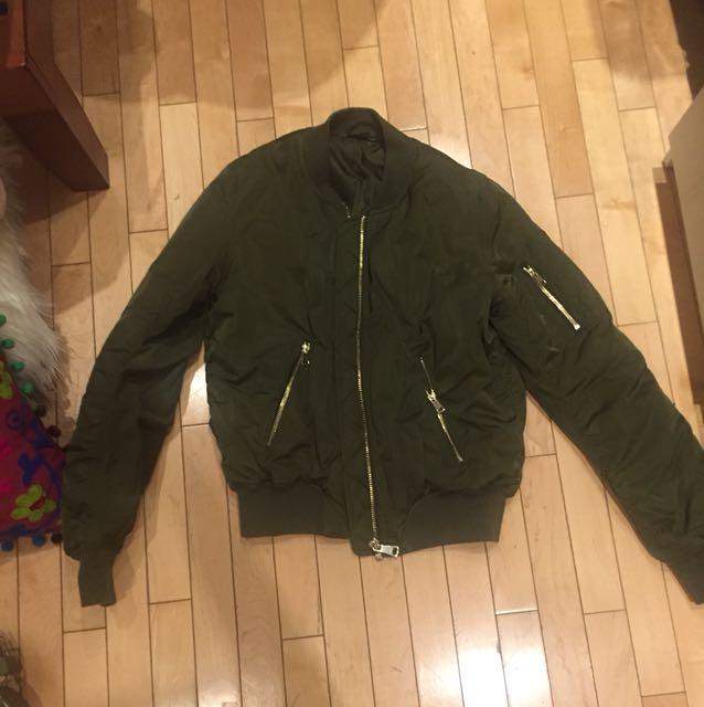 Green top shop bomber jacket