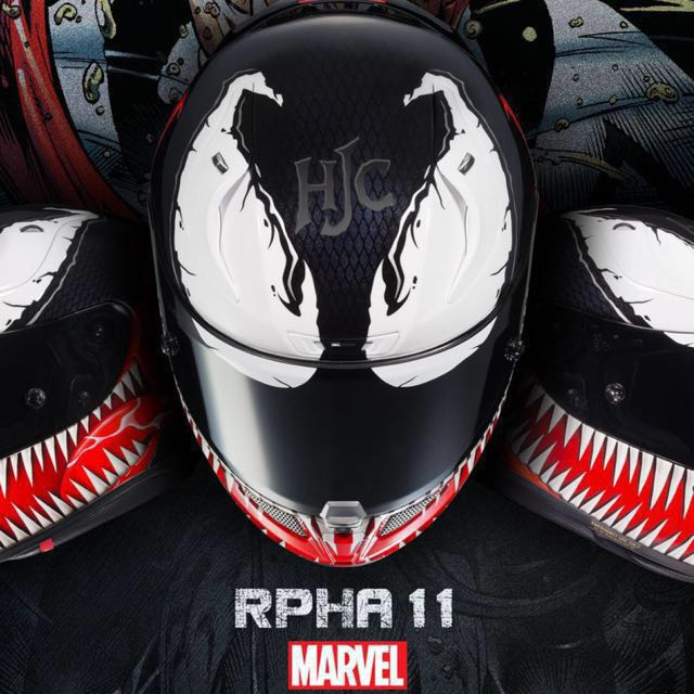 hjc rpha 11 marvel venom size m motorbikes motorbike apparel on carousell. Black Bedroom Furniture Sets. Home Design Ideas