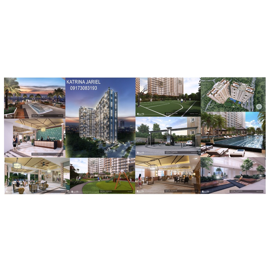 Infina Towers 1 Bedroom with Parking slot PHP 16,998.28 per month