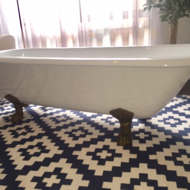 Iron antique bath- statement piece