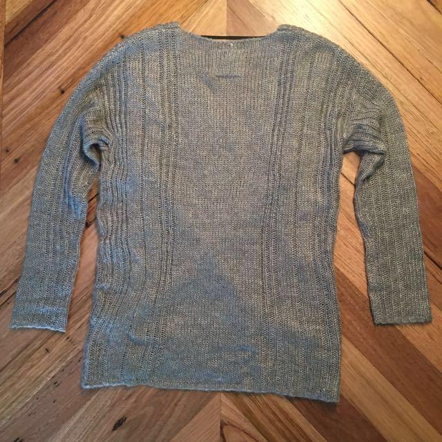 Jorge grey knit jumper, size 8