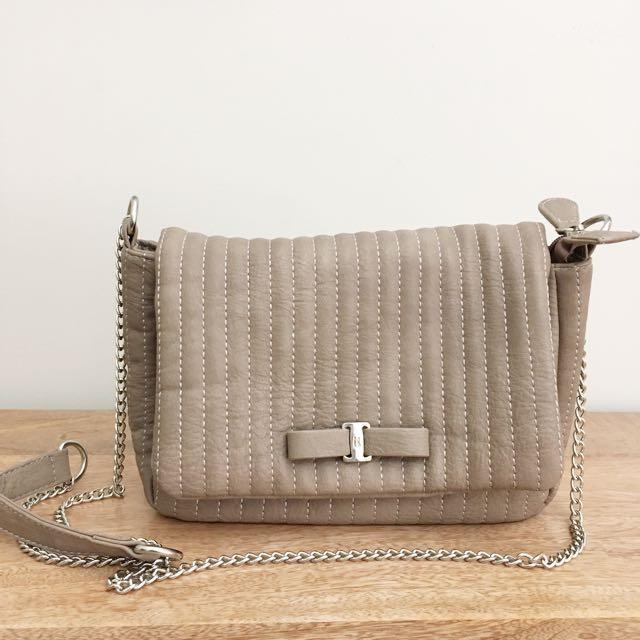 Kate Hill Beige Shoulder Bag