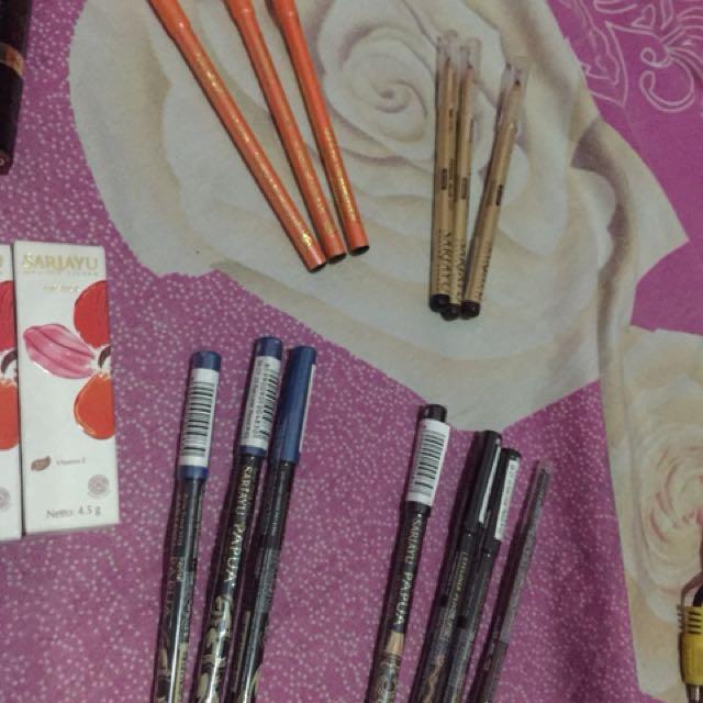 Lipstik pensil alis mascara eyeliner bedak facial wash
