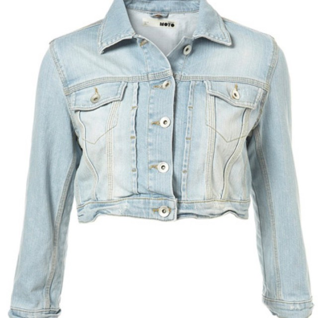 Looking for cropped denim jacket XL
