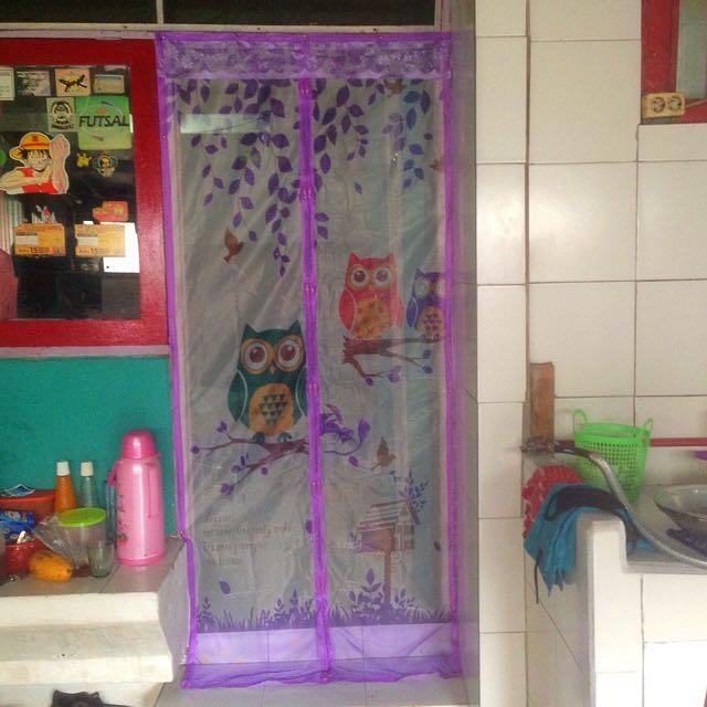 Magic Mesh Tirai Magnet Anti Nyamuk Motif Owl, Perabotan Rumah di Carousell