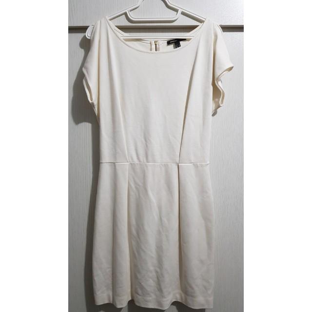 Mango off white dress