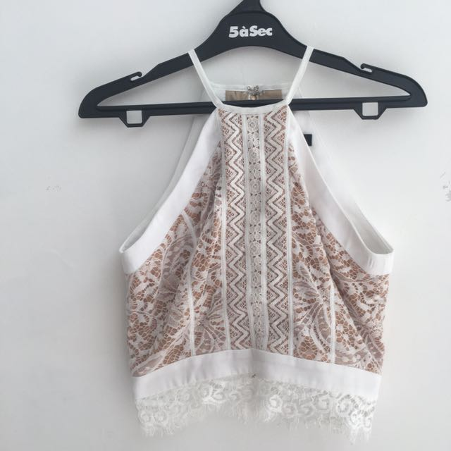 MDS lace crop top