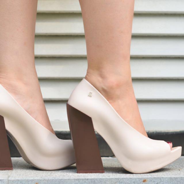 Melissa Shoes Boho Heels - Beige