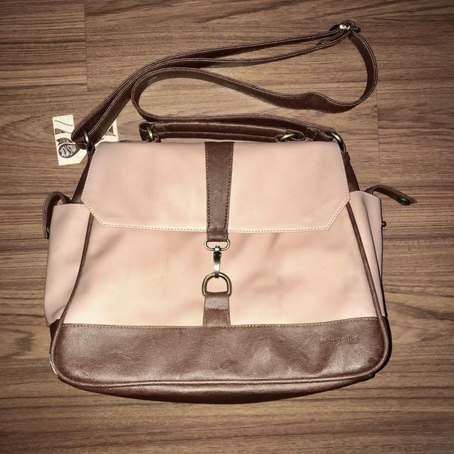 Micelle Bag - Peach & Brown (Termasuk ongkir)
