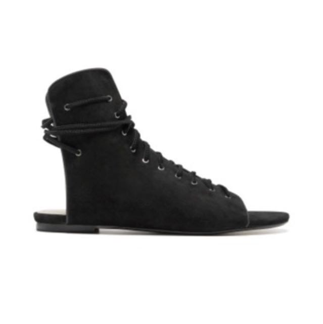 Mimco Suede Gladiator Sandals Size 6