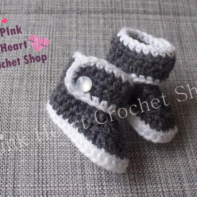 New Handmade Crochet Baby Boots