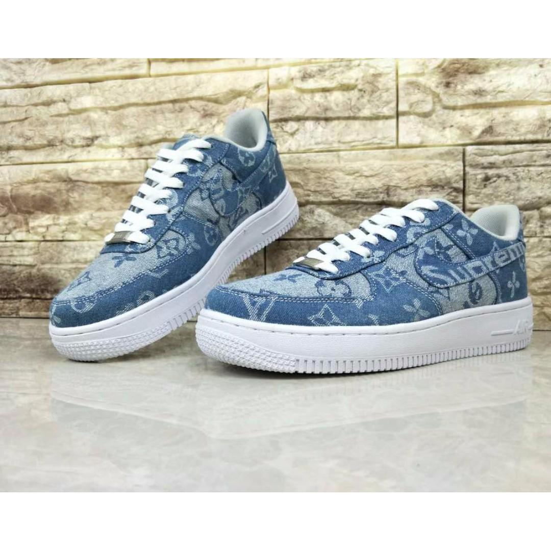 sports shoes 0449e b25d0 Louis Vuitton Supreme Denim NIKE Air Force 1 custom t