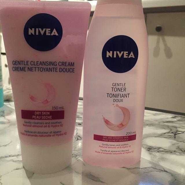 Nivea Dry Skin Gentle Face Wash and Toner
