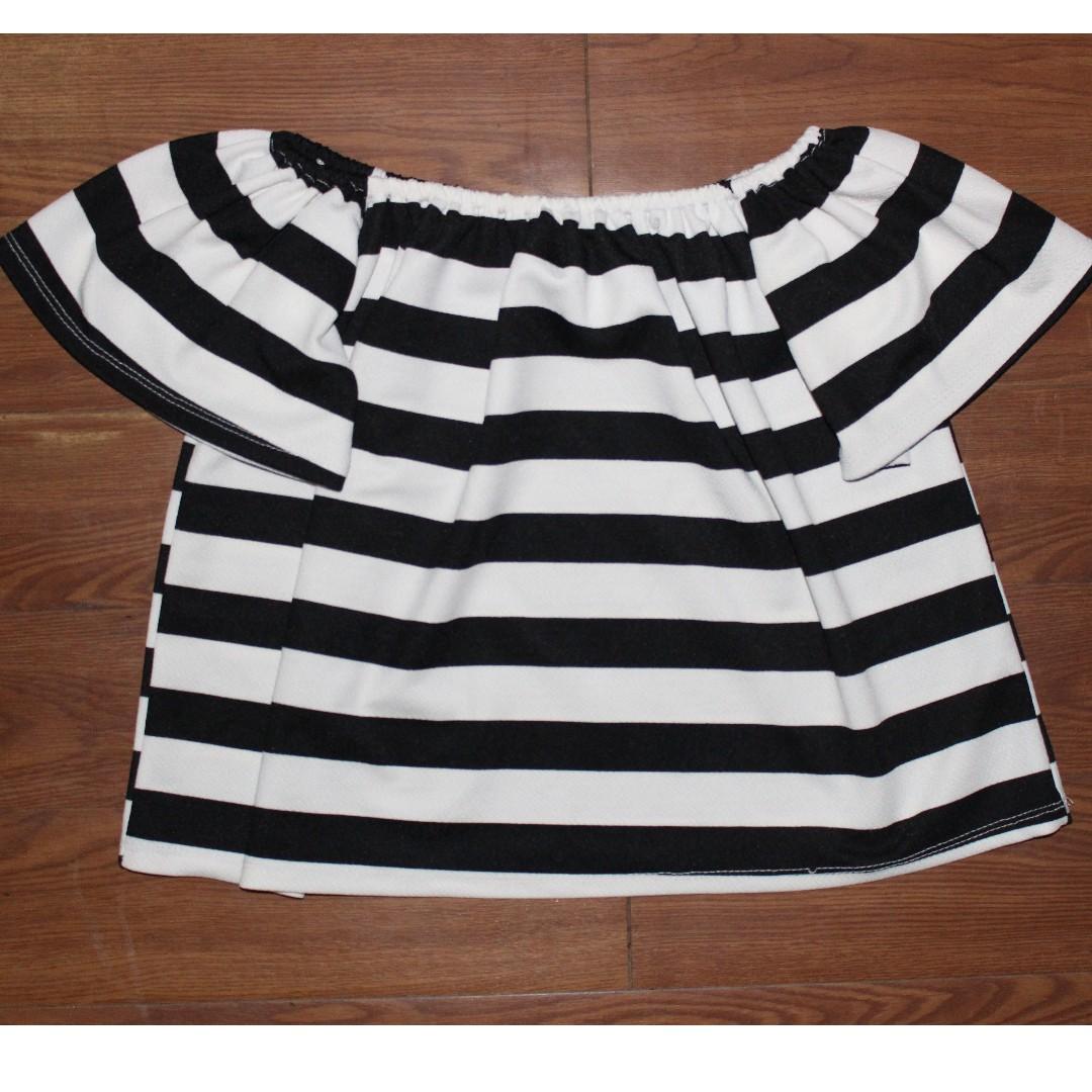 Off Shoulder (stripes)