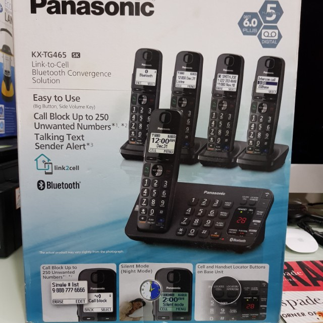 Panasonic 5pc Cordless phones