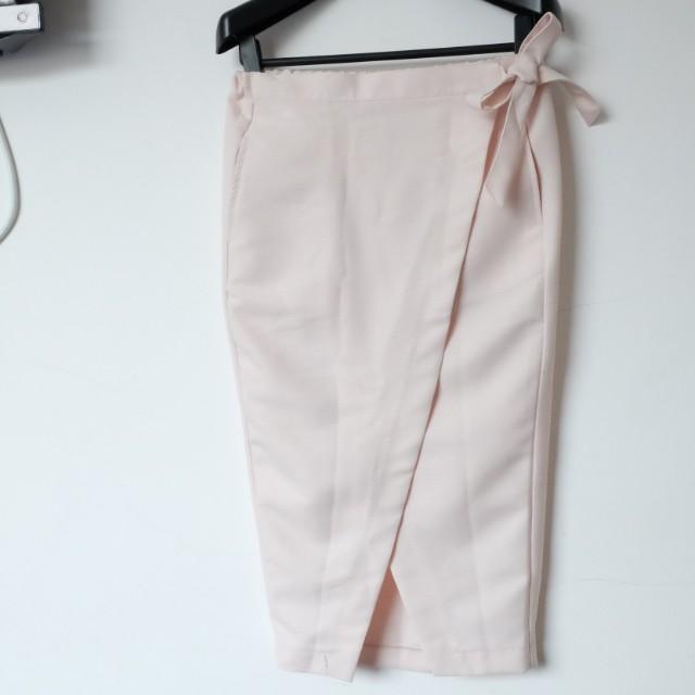 Peach Slit Skirt